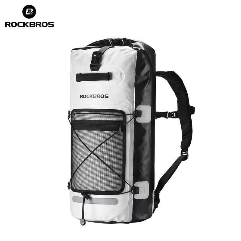 ROCKBROS 28L водостойкий походный рюкзак Кемпинг Велоспорт непромокаемые сумки Открытый велосипед плавание рыбалка воды сумка спортивный рюкза...