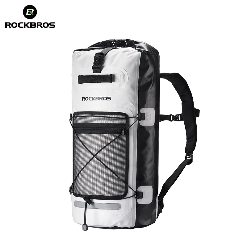 ROCKBROS 28L Waterproof Hiking Backpack Camping Cycling Rainproof Bags Outdoor Bicycle Swimming Fishing Water Bag Sport Backpack