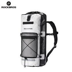 ROCKBROS 28L Waterproof Hiking Backpack Camping Cycling Rainproof Bags Outdoor Bicycle Swimming Fishing Water Bag Sport Backpack