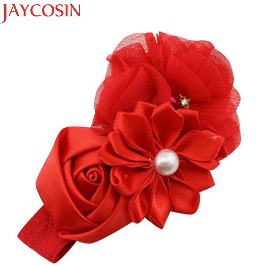 Hot 2017 Hair Accessories Child Girl Headbands Elastic Chiffon Flower Hair Band  Phtography Props Drop Shipping Feb24 mism girl french hair bun maker multifunctional hair accessories for women fine roller curls styling holder curlers headbands