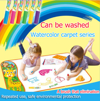2506 The new super sized Magic watercolour canvas Washable watercolor blanket Educational graffiti water painting