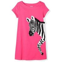 2019 Summer New Girl Dress 100%Cotton Zebra Star Embroidery Kids Dresses for Girls Dress Elegant Girls Party Dress Unicorn Party