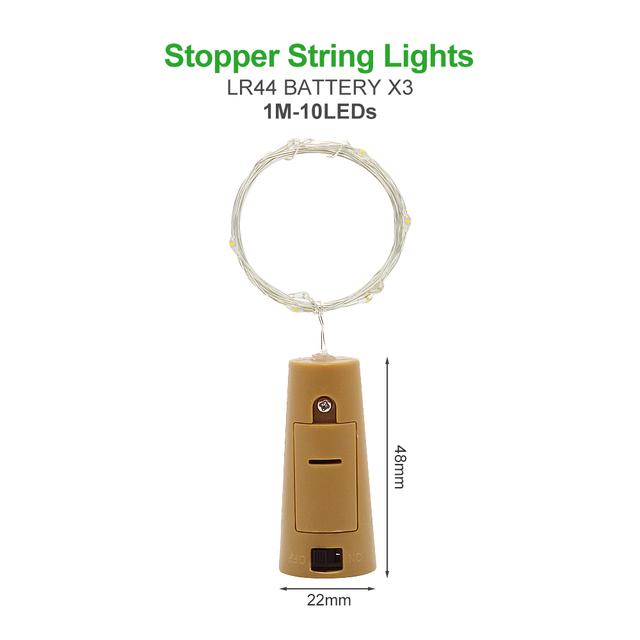 1M 2M 3M 5M 10M drut miedziany LED String lights oświetlenie świąteczne wróżka wianek na boże narodzenie dekoracji choinki tanie i dobre opinie ANBLUB w ciągu 1 roku Z tworzywa sztucznego Klin Suche baterii Wakacje Żarówki led 500cm 1-5 w M Brak Sypialnia Wielu