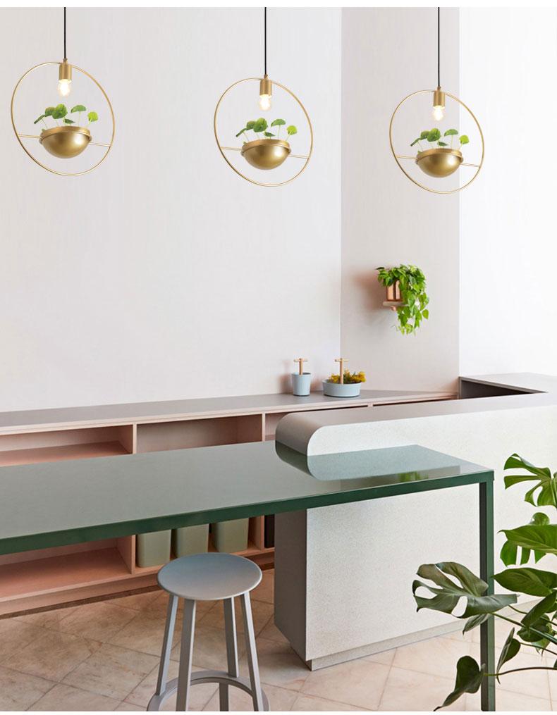 北欧餐厅灯简约创意个性吧台单头床头奶茶店服装店小吊灯植物灯具-tmall_03