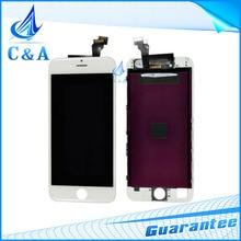 1 unid/lote envio negro y blanco gratuito pieza de recambio para el iphone 6 6 g pantalla lcd con pantalla táctil digitalizador + frame asamblea