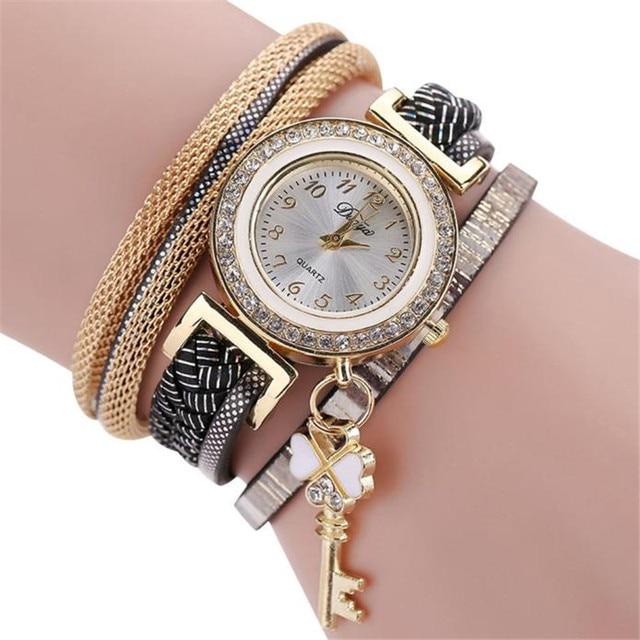 2264da8df21b5 Relogio feminino Novo O Elegante Elegante E Chique Malha Pulseira de  Relógio de Senhoras Presente Decorativo