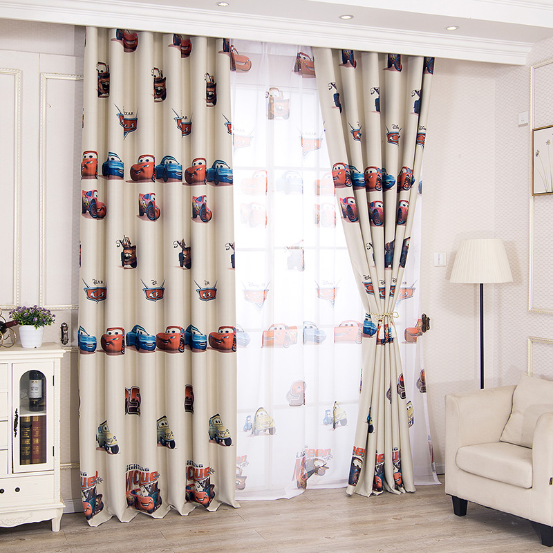 Cartoon Style Window Curtains for Living Room Bedroom Kids Baby Room  Blackout Curtains Panel Drapes Window Treatments