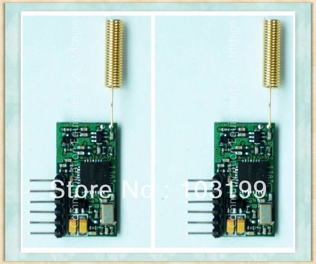 US $111 0 |Retail Mini size Wireless Data Module for Microcontrollers, RF  Module 1km Distance TTL Interface 433MHz, Coil Antenna-in Integrated