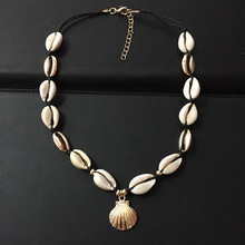 Gold Silver Color Sea Shell Choker Necklace