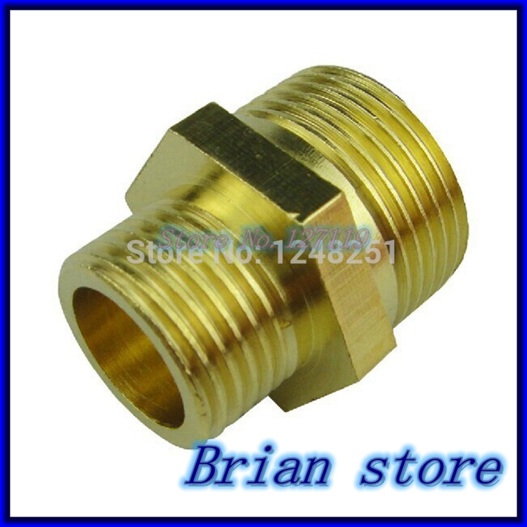 Quot inch bsp male length mm connection hex brass