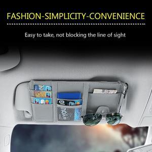 Image 5 - Universal Auto auto Sonnenblende Veranstalter Halter Lagerung Tasche TydyingCase für Karte Gläser Auto Zubehör Visier Multifunktionale Lagerung