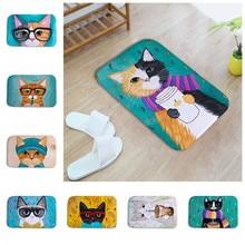 Nueva Kawaii Bienvenido Tapetes Animal Print Cat Baño Cocina Niños Felpudos de Alfombras para la Sala Tapete Antideslizante alfombras