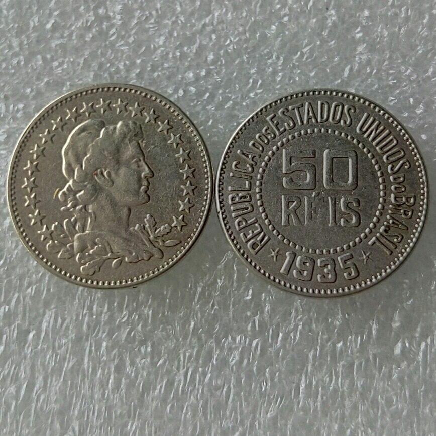 Бразилия 50 Reis 1935 Медь и никелевого сплава хорошее качество