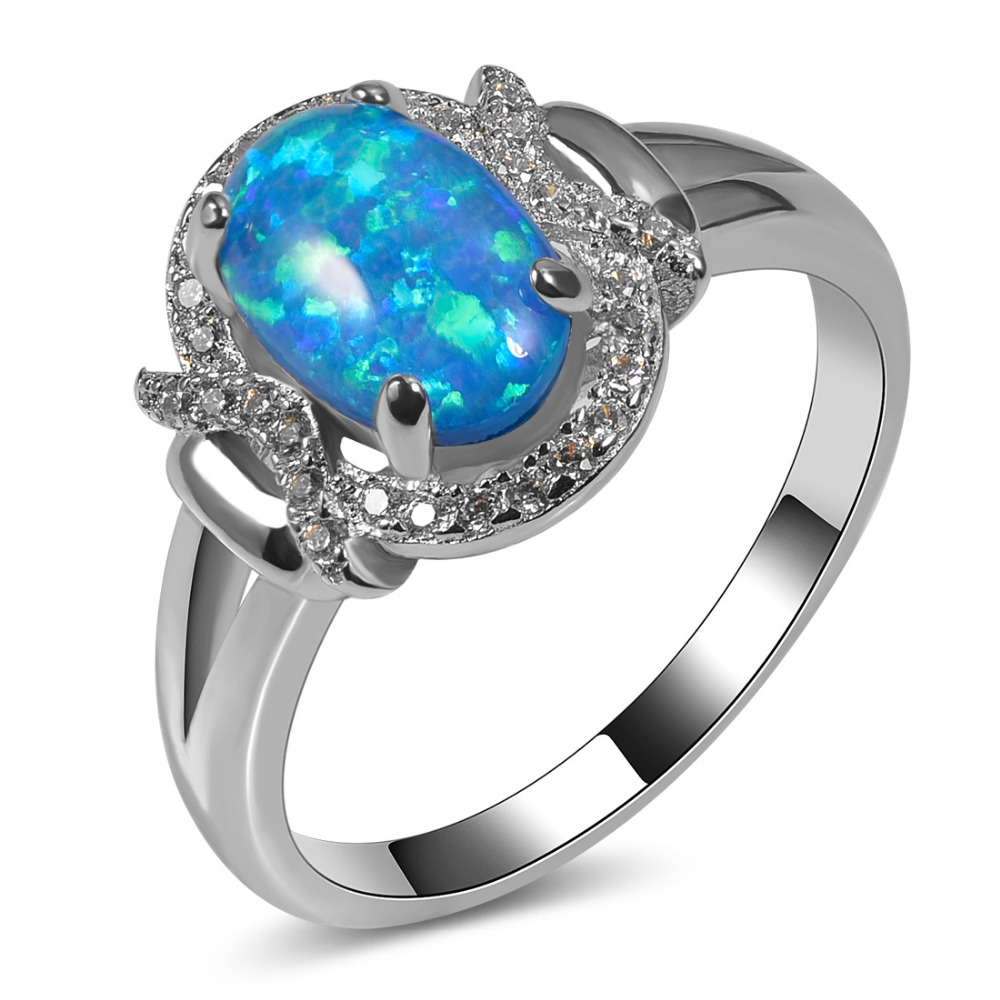Plava rasprodaja Blue Fire Opal 925 Sterling Silver Visoka količina - Modni nakit - Foto 1