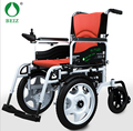 BZ-6301 Fashion  Red electric Folded Lightweight battery-powered wheelchair with shopping bag NEW