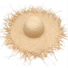 Natural Large Wide Brim Raffia Straw Hats Woven Circle Fringe Beach Cap Summer Hollow Out Big Straw Hat A1