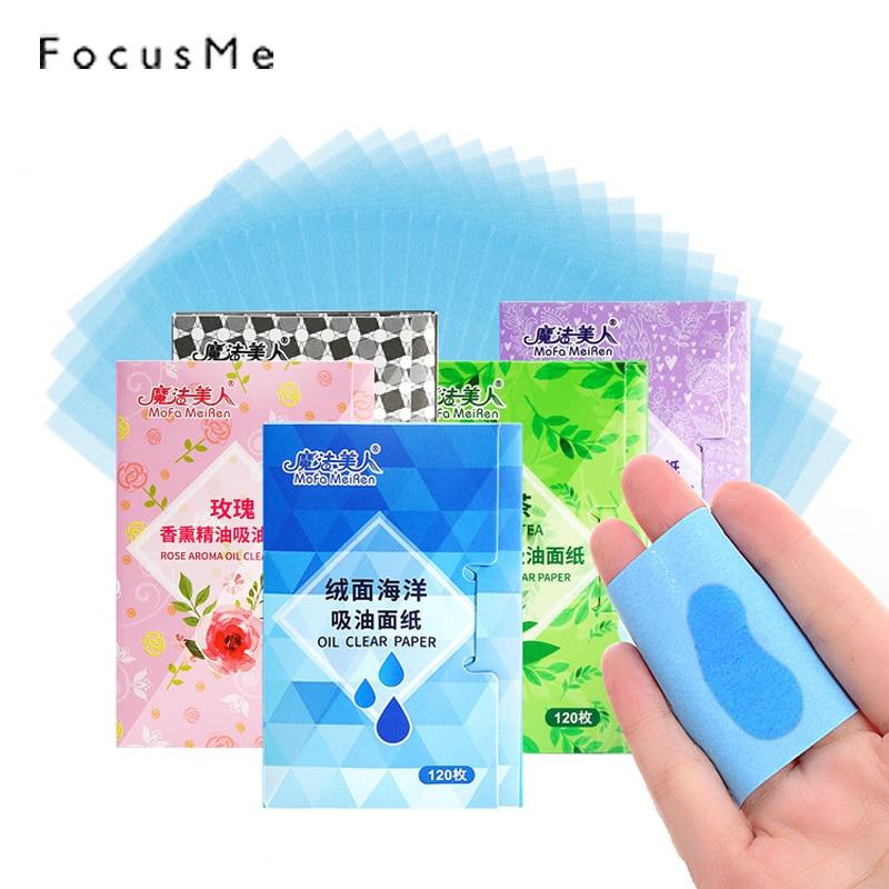 FocusMe 600pcs/lot Green Tea Oil Control Paper Absorbing Facial Grease Tissue Makeup Oil Blotting Film Fresh Face Beauty Tools