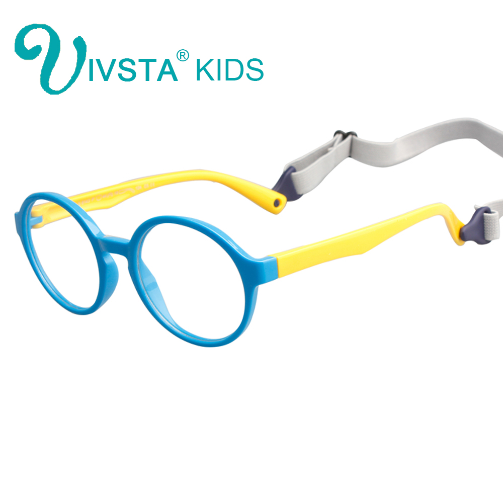 IVSTA with Retainer Stap TR90 Plastic Titanium Kids Glasses Frames Flexible Elasticity Food Grade Material Rubber Boys 8143