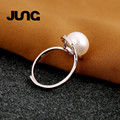 Delicate Beautiful Rings For Women Natural Pearl AAA Zircon 925 Sterling Silver Jewelry Bague Femme Anillos Mujer Wedding Ring