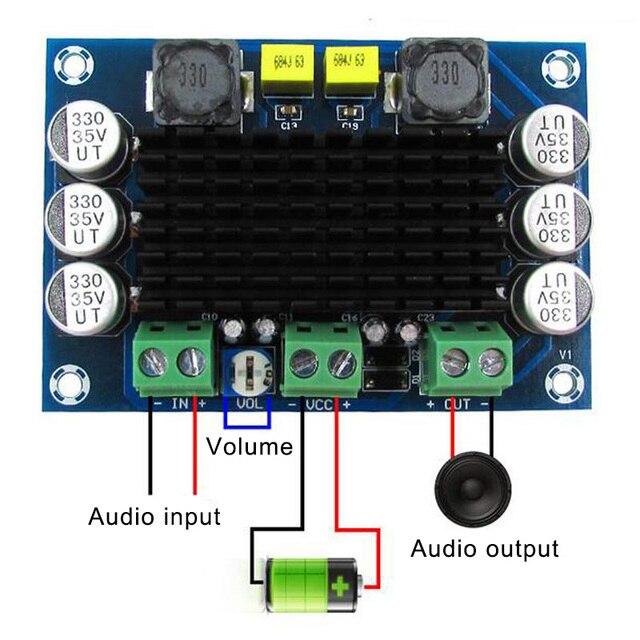 Цифровая плата усилителя мощности SGA998, моно 100 Вт, цифровой аудио усилитель