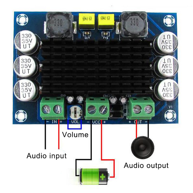 XH M542 مونو 100 واط مكبر كهربائي رقمي مجلس مكبرات الصوت الرقمية SGA998