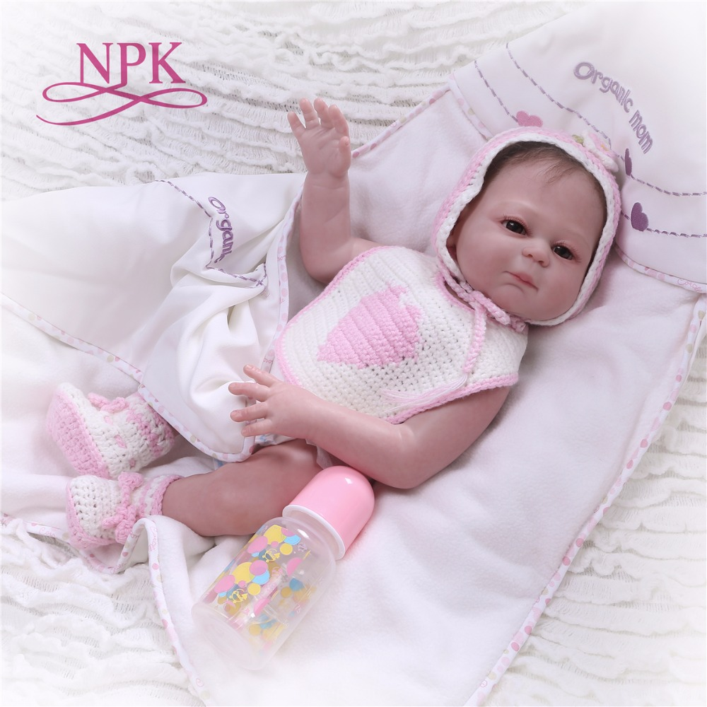 NPK 20 Inch silicone Reborn Baby Doll Touch Real fashion childrens day gifts toys Baby Doll New DesignedNPK 20 Inch silicone Reborn Baby Doll Touch Real fashion childrens day gifts toys Baby Doll New Designed
