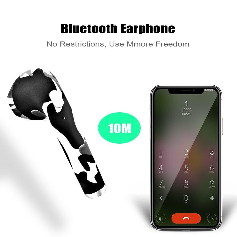 M&J I7S TWS Camo Earbuds Wireless Bluetooth Double Earphones All Bluetooth Mobile 7
