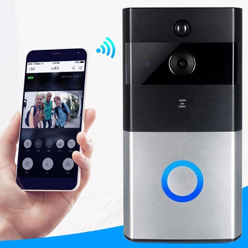 Smart WiFi vidéo IP caméra sonnette interphone visuel alarme de sécurité anneau de came porte mur à distance Active réveil connexion sans fil