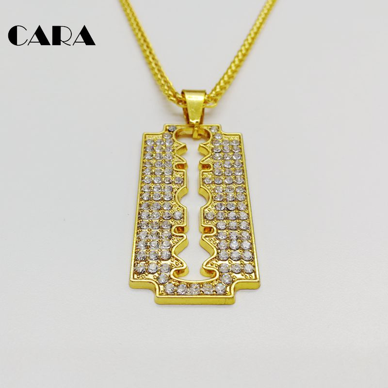 Cara new iced out bling bling full rhinestones shaver knife blade cara new iced out bling bling full rhinestones shaver knife blade necklace pendant mens barber necklace fashion jewelry cara0408 in choker necklaces from mozeypictures Gallery