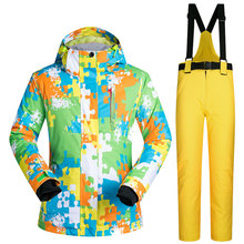 Ski Suit Women Brands Outdoor Windproof Waterproof Thermal Snow Jacket and Pants Skiwear Skating Skiing and Snowboarding Suits cheap MUTUSNOW COTTON Polyester Microfiber LinZhiYingW Jackets Hooded Fits true to size take your normal size Anti-Pilling