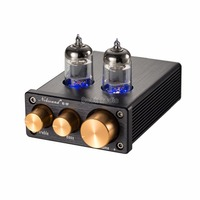 2018 Nobsound NS 10P Mini Vacuum Tube Preamp HiFi Audio 6J1 Valve Pre Amplifier With Treble