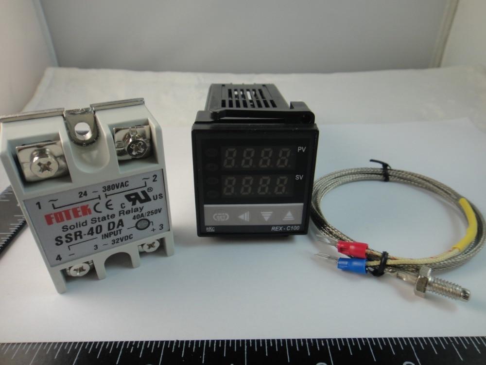 Dual Digital RKC PID C100FK02 V*AN 110 240V Solid State