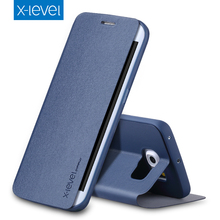 X-уровень Бизнес Стиль искусственная кожа флип чехол для телефона для Samsung Galaxy S6 край Роскошный чехол