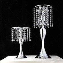 Abalorios de cristal acrílico en forma de S para cortina giratoria, accesorios de boda, Noria, sirena, candelabro, soporte para flor, jarrón