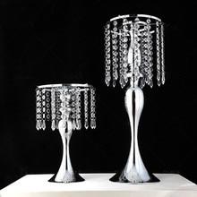 Rideau de perles en acrylique rotatif en forme de S, accessoire de mariage, grande roue sirène, bougeoir vase de fleur
