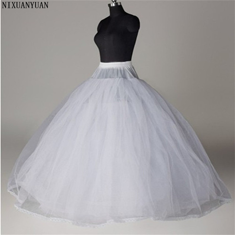 Wedding Petticoat Cheap Bridal Wedding Accessories White Petticoat With Hem Lace Appliques Ball Gown Petticoat For Wedding Dress