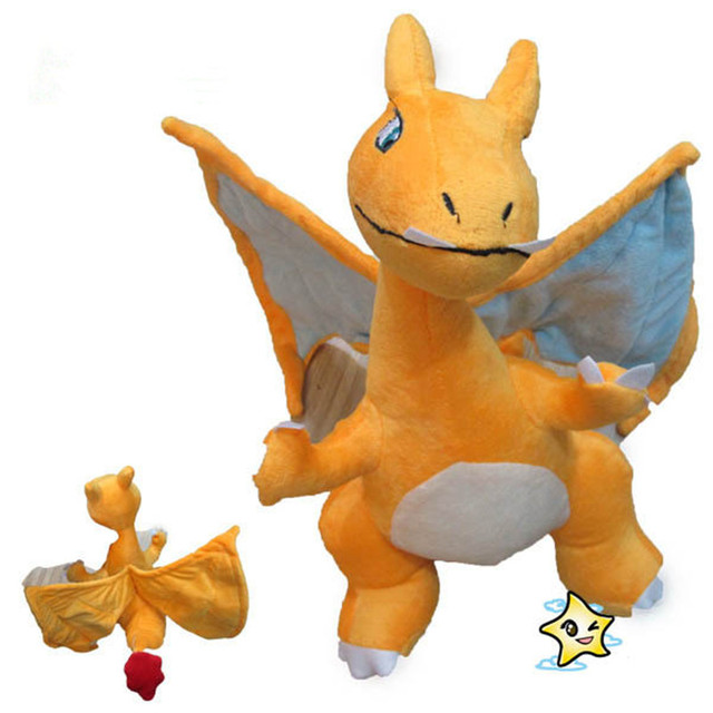 "Kawaii Pokemon Charizard Soft Plush Toy for Kids Gift 13"" Children Anime Stuffed Charizard Dolls Mega evolution XY"