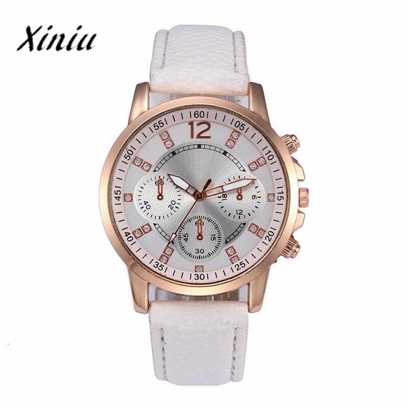 2018 Xiniu Men's Fashion sport watches for men Quartz Analog Clock Man Digital Dial Leather Watch Business Relogio Masculino#1D