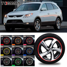 8M Car Wheel Hub Rim Edge Protector Ring Tire Strip Guard Rubber Decals For Hyundai Veracruz цены онлайн