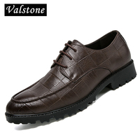 Valstone 2018 Casual Leather Shoes Men Superstar Ultra Light Leather Formal Shoes Oxford Shoes Hombres Black
