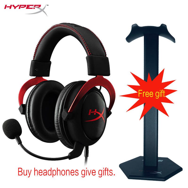 2015 Kingston HyperX Cloud II Hi-Fi Gaming Headset for PC PS4 Xbox 7.1 Virtual Surround Sound with Noise Cancelling microphone 914 5 cool hi fi wired headset w microphone for xbox360 black 110cm