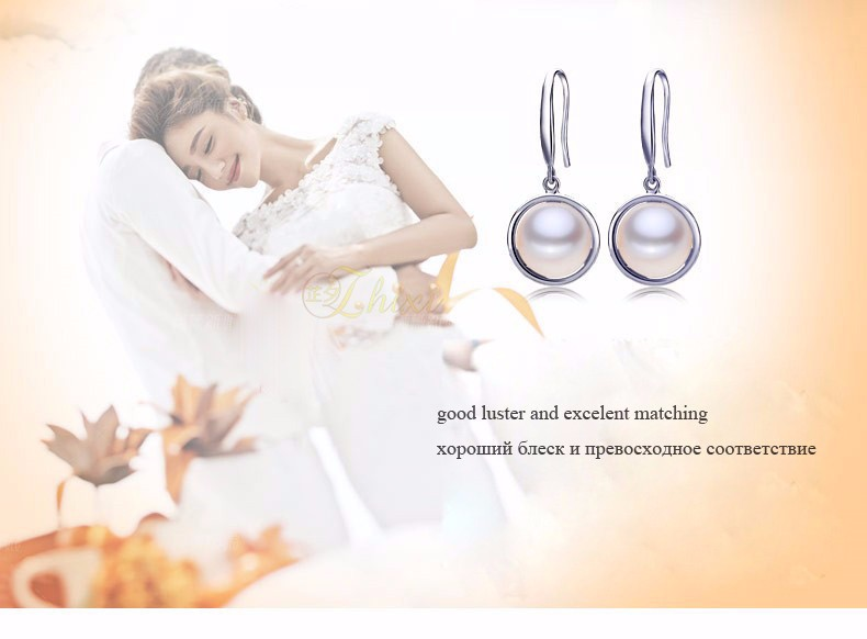ZHIXI Pearl Jewelry Sets For Women Fine Jewelry Natural Freshwater Pearl Pendant Earrings Ring 9-10mm Trendy Wedding Gift JFY01 16