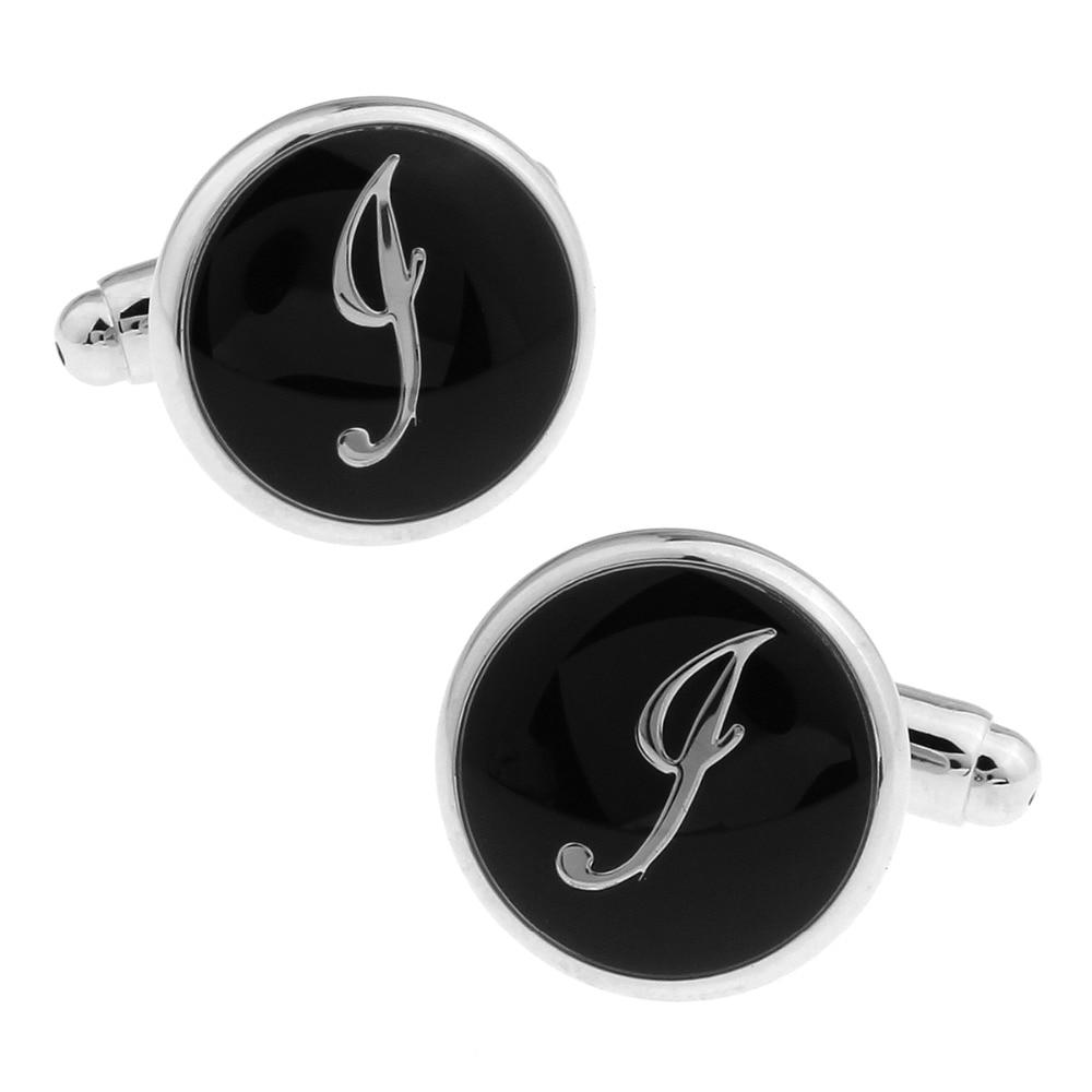 Men Cufflinks Custom Wedding Cufflinks Gift Letters Shirt Cufflinks Custom a Best Gift The letter J 168487
