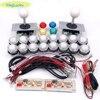 2 Player DIY Arcade Joystick Kits With 20 LED Arcade Buttons + 2 Joysticks + 2 USB Encoder Kit + Cables Arcade Game Parts Set