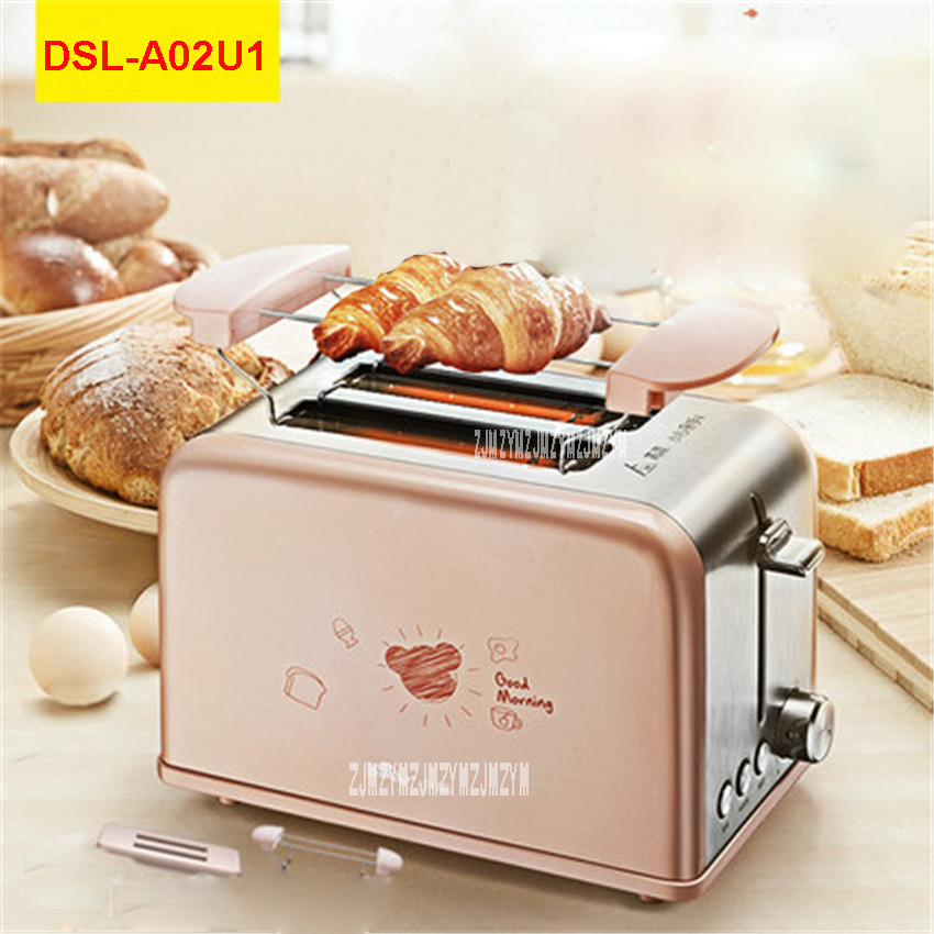 все цены на DSL-A02U1 220V/50Hz Multi-functional Breakfast Toaster automatic stainless steel 2 Slice Toaster Mini-toaster 680W Toaster Ovens онлайн