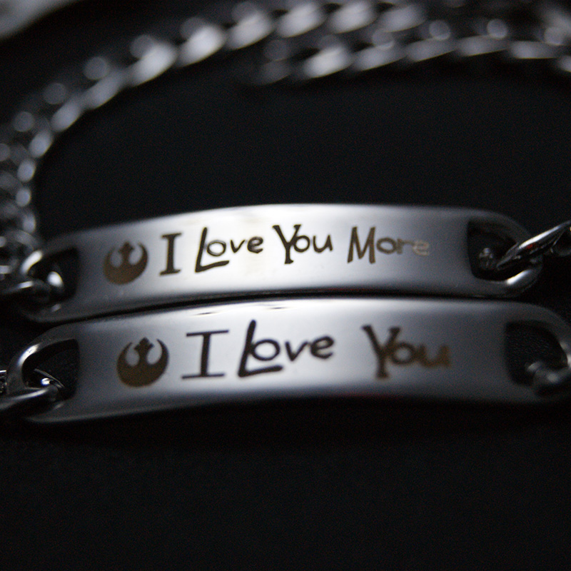 I Love You -I Love You More Stainless steel Bracelet Set Couple Jewelry,316L Stainless Steel Bracelets For Lover Christmas Gift
