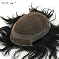 Human Toupee India Men Invisable Hairline King Hair Lace Front Wigs Lace Hair Replacement H065