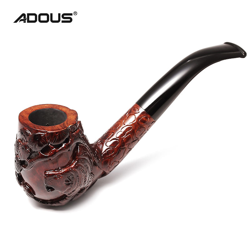 Hand-Carved Tobacco Pipe Briar Wood 1