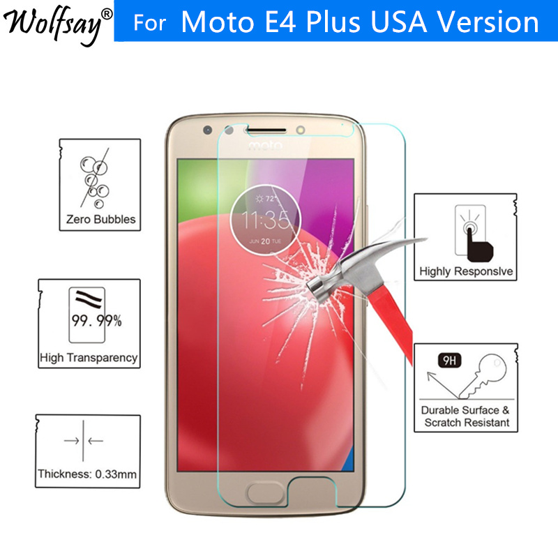 2pcs For Tempered Glass Motorola Moto E4 Plus Screen Protector US Version UltraThin Film For Motorola Moto E4 Plus Glass Wolfsay image
