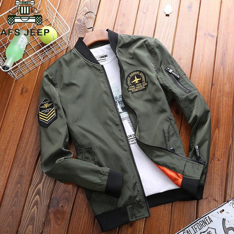 AFS JEEP Brand Clothing Bomber Jacket Men Plus Size 4XL Spring Autumn Military Jacket Men Jaqueta Masculina Casual Jackets Coats